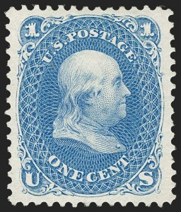 Sale Number 1212, Lot Number 22, 1861-88 Issues1c Blue, Re-Issue (102), 1c Blue, Re-Issue (102)