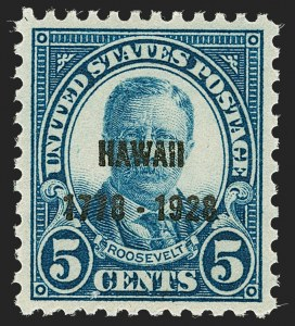 Sale Number 1212, Lot Number 235, 1927 and Later Issues5c Hawaii Ovpt. (648), 5c Hawaii Ovpt. (648)
