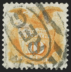 Sale Number 1212, Lot Number 25, 1861-88 Issues10c Yellow, Re-Issue (127), 10c Yellow, Re-Issue (127)