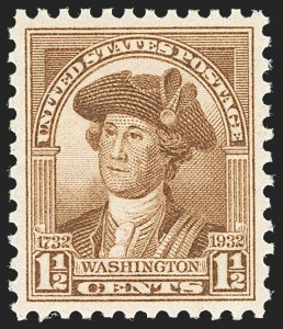 Sale Number 1212, Lot Number 259, 1927 and Later Issues, cont.1-1/2c Washington Bicentennial (706), 1-1/2c Washington Bicentennial (706)