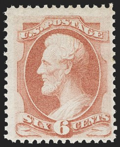 Sale Number 1212, Lot Number 29, 1861-88 Issues6c Dull Pink (159). Mint N.H, 6c Dull Pink (159). Mint N.H