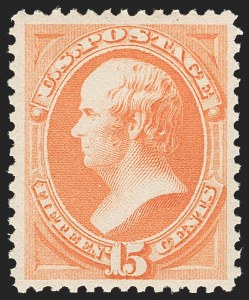 Sale Number 1212, Lot Number 31, 1861-88 Issues15c Red Orange (189), 15c Red Orange (189)