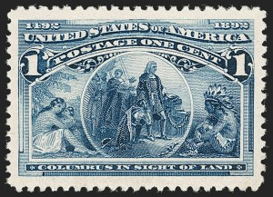 Sale Number 1212, Lot Number 32, 1893 Columbian Issue1c Columbian (230), 1c Columbian (230)
