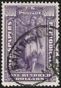 Sale Number 1212, Lot Number 338, Other Back-of-Book$100.00 Purple, 1895 Watermarked Issue (PR125), $100.00 Purple, 1895 Watermarked Issue (PR125)