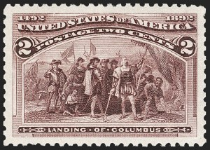 Sale Number 1212, Lot Number 34, 1893 Columbian Issue2c Columbian (231), 2c Columbian (231)