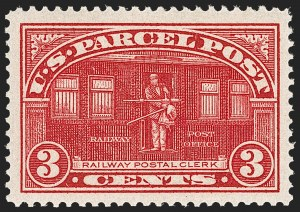 Sale Number 1212, Lot Number 340, Other Back-of-Book3c Parcel Post (Q3), 3c Parcel Post (Q3)