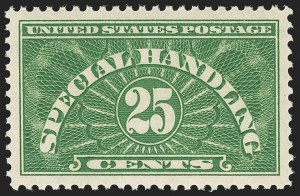 Sale Number 1212, Lot Number 344, Other Back-of-Book25c Yellow Green, Special Handling (QE4a), 25c Yellow Green, Special Handling (QE4a)