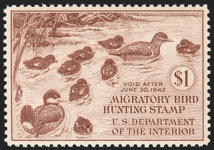 Sale Number 1212, Lot Number 356, Hunting Permits$1.00 1941 Hunting Permit (RW8), $1.00 1941 Hunting Permit (RW8)
