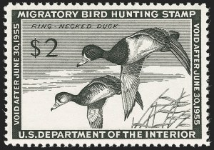 Sale Number 1212, Lot Number 359, Hunting Permits$2.00 1954 Hunting Permit (RW21), $2.00 1954 Hunting Permit (RW21)