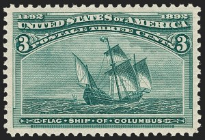 Sale Number 1212, Lot Number 36, 1893 Columbian Issue3c Columbian (232), 3c Columbian (232)