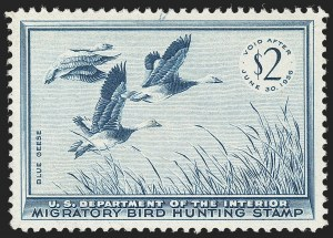 Sale Number 1212, Lot Number 360, Hunting Permits$2.00 1955 Hunting Permit (RW22), $2.00 1955 Hunting Permit (RW22)