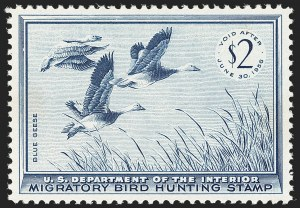 Sale Number 1212, Lot Number 361, Hunting Permits$2.00 1955 Hunting Permit (RW22), $2.00 1955 Hunting Permit (RW22)