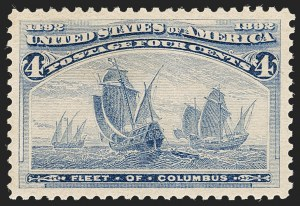 Sale Number 1212, Lot Number 37, 1893 Columbian Issue4c Columbian (233), 4c Columbian (233)