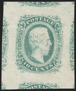 Sale Number 1212, Lot Number 376, Confederate States10c Blue, Die A (11), 10c Blue, Die A (11)