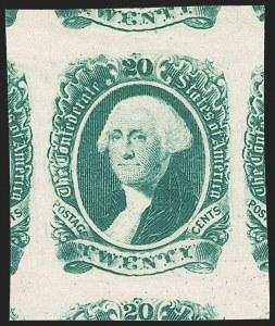 "Sale Number 1212, Lot Number 381, Confederate States20c Green, Double Transfer in ""20"" (13 var), 20c Green, Double Transfer in ""20"" (13 var)"