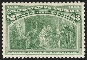 Sale Number 1212, Lot Number 43, 1893 Columbian Issue$3.00 Columbian (243), $3.00 Columbian (243)