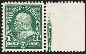 Sale Number 1212, Lot Number 46, 1894-98 Issues, Pan-American Issue1c Deep Green (279), 1c Deep Green (279)