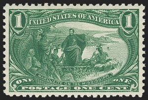 Sale Number 1212, Lot Number 47, 1894-98 Issues, Pan-American Issue1c Trans-Mississippi (285), 1c Trans-Mississippi (285)