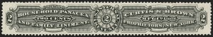 Sale Number 1212, Lot Number 486, Private Die Medicine Stamps: A thru CCurtis & Brown Mfg. Co., 2c Black, Watermarked (RS72d), Curtis & Brown Mfg. Co., 2c Black, Watermarked (RS72d)