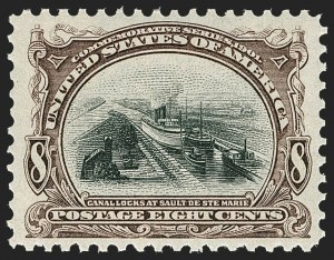 Sale Number 1212, Lot Number 51, 1894-98 Issues, Pan-American Issue8c Pan-American (298), 8c Pan-American (298)