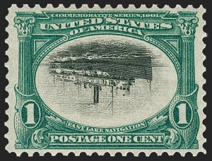 Sale Number 1212, Lot Number 55, 1894-98 Issues, Pan-American Issue1c Pan-American, Center Inverted (294a), 1c Pan-American, Center Inverted (294a)