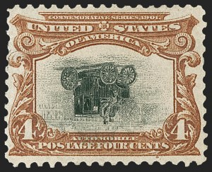 Sale Number 1212, Lot Number 56, 1894-98 Issues, Pan-American Issue4c Pan-American, Center Inverted (296a), 4c Pan-American, Center Inverted (296a)