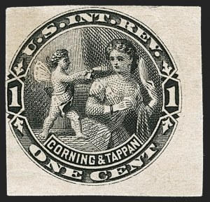 Sale Number 1212, Lot Number 571, Private Die Perfumery StampsCorning & Tappan, 1c Black, Watermarked, Imperforate (RT2d), Corning & Tappan, 1c Black, Watermarked, Imperforate (RT2d)