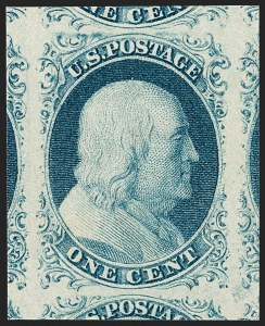 Sale Number 1212, Lot Number 6, 1851-60 Issues1c Blue, Ty. IV (9), 1c Blue, Ty. IV (9)