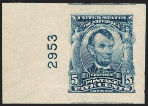 Sale Number 1212, Lot Number 62, 1902-08 Issues5c Blue, Imperforate (315), 5c Blue, Imperforate (315)