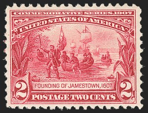Sale Number 1212, Lot Number 76, 1902-08 Issues2c Jamestown (329), 2c Jamestown (329)