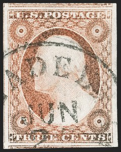Sale Number 1212, Lot Number 8, 1851-60 Issues3c Rose Red, Ty. II (11A), 3c Rose Red, Ty. II (11A)