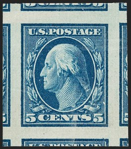 Sale Number 1212, Lot Number 82, 1908-10 Washington-Franklin Issues, 1909 Commemoratives1c-5c 1908-09 Issue, Imperforate (343-347), 1c-5c 1908-09 Issue, Imperforate (343-347)