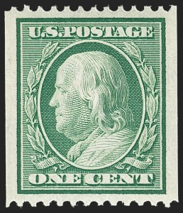 Sale Number 1212, Lot Number 84, 1908-10 Washington-Franklin Issues, 1909 Commemoratives1c Green, Coil (348), 1c Green, Coil (348)