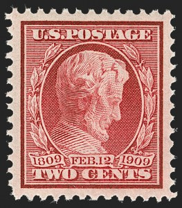 Sale Number 1212, Lot Number 89, 1908-10 Washington-Franklin Issues, 1909 Commemoratives2c Lincoln (367), 2c Lincoln (367)