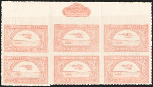 Sale Number 1213, Lot Number 561, 1921 30-Cent Rose (C15)COLOMBIA, 1921, 30c Rose, Second SCADTA Air Post (C15), COLOMBIA, 1921, 30c Rose, Second SCADTA Air Post (C15)