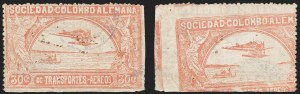 Sale Number 1213, Lot Number 562, 1921 30-Cent Rose (C15)COLOMBIA, 1921, 30c Rose, Printed on Both Sides (C15 var), COLOMBIA, 1921, 30c Rose, Printed on Both Sides (C15 var)