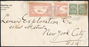 Sale Number 1213, Lot Number 568, 1921 30-Cent Rose (C15)COLOMBIA, 1921, 30c Rose, -2/3 Vertical Bisect as 20c (C15 var), COLOMBIA, 1921, 30c Rose, -2/3 Vertical Bisect as 20c (C15 var)