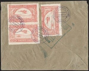 Sale Number 1213, Lot Number 569, 1921 30-Cent Rose (C15)COLOMBIA, 1921, 30c Rose, Second SCADTA Issue (C15), COLOMBIA, 1921, 30c Rose, Second SCADTA Issue (C15)