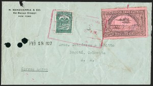 Sale Number 1213, Lot Number 574, Consular ForerunnersCOLOMBIA, 1920, 30c Black on Rose, G. Mejia Signature in Red (CLEU1), COLOMBIA, 1920, 30c Black on Rose, G. Mejia Signature in Red (CLEU1)