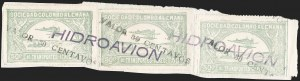 "Sale Number 1213, Lot Number 652, 1921-23 Provisional Surcharges (by Colomphil No.)COLOMBIA, 1921, ""Valor 30 Centavos"" on 50c Pale Green, Hooked ""L"" in ""Valor"", Black Air Post Surcharge (Colomphil 22; Scott C20 var), COLOMBIA, 1921, ""Valor 30 Centavos"" on 50c Pale Green, Hooked ""L"" in ""Valor"", Black Air Post Surcharge (Colomphil 22; Scott C20 var)"