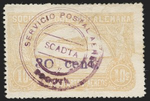 "Sale Number 1213, Lot Number 660, 1921-23 Provisional Surcharges (by Colomphil No.)COLOMBIA, 1921, ""30 cent."" on 10c Yellow (Colomphil 26; C37), COLOMBIA, 1921, ""30 cent."" on 10c Yellow (Colomphil 26; C37)"