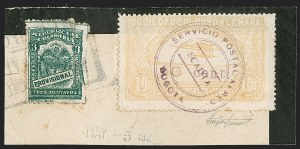 "Sale Number 1213, Lot Number 664, 1921-23 Provisional Surcharges (by Colomphil No.)COLOMBIA, 1921, ""30 cent."" on 10c Yellow (Colomphil 26c; C37), COLOMBIA, 1921, ""30 cent."" on 10c Yellow (Colomphil 26c; C37)"