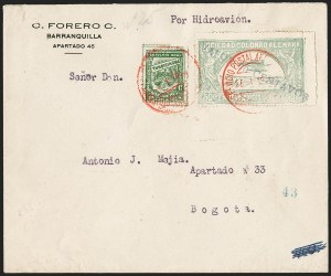 "Sale Number 1213, Lot Number 668, 1921-23 Provisional Surcharges (by Colomphil No.)Colombia 1923 ""Forero"" Reprints of the 1921-23 Air Post Surcharges, Colombia 1923 ""Forero"" Reprints of the 1921-23 Air Post Surcharges"