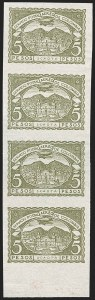 Sale Number 1213, Lot Number 670, Later IssuesCOLOMBIA, 1921, 10c-5p Third Issue Air Post, Imperforate Proof Multiples (C26P-C35P), COLOMBIA, 1921, 10c-5p Third Issue Air Post, Imperforate Proof Multiples (C26P-C35P)