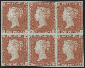 Sale Number 1214, Lot Number 1116, Great Britain - 1841 One-Penny Red Brown (3; SG 8)GREAT BRITAIN, 1841, 1p Red Brown on Bluish (3; SG 8), GREAT BRITAIN, 1841, 1p Red Brown on Bluish (3; SG 8)