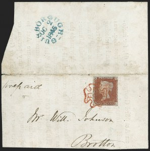 Sale Number 1214, Lot Number 1120, Great Britain - 1841 One-Penny Red Brown (3; SG 8)GREAT BRITAIN, 1841, 1p Red Brown (3; SG 8, SG Specialised B1(1)sb), GREAT BRITAIN, 1841, 1p Red Brown (3; SG 8, SG Specialised B1(1)sb)