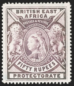 Sale Number 1214, Lot Number 1204, Bermuda thru British GuianaBRITISH EAST AFRICA, 1898, 50r Lilac (109; SG 99), BRITISH EAST AFRICA, 1898, 50r Lilac (109; SG 99)