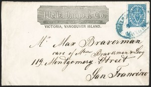 Sale Number 1214, Lot Number 1222, Canadian ProvincesBRITISH COLUMBIA & VANCOUVER ISLAND, 1865, 3p Blue (7; SG 21), BRITISH COLUMBIA & VANCOUVER ISLAND, 1865, 3p Blue (7; SG 21)