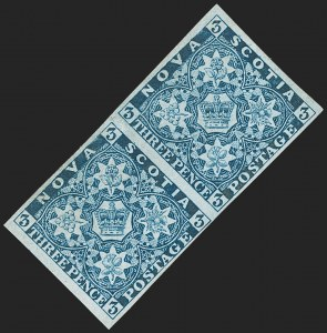 Sale Number 1214, Lot Number 1244, Canadian ProvincesNOVA SCOTIA, 1851, 3p Bright Blue (2; SG 3), NOVA SCOTIA, 1851, 3p Bright Blue (2; SG 3)