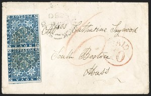 Sale Number 1214, Lot Number 1245, Canadian ProvincesNOVA SCOTIA, 1851, 3p Bright Blue (2; SG 3), NOVA SCOTIA, 1851, 3p Bright Blue (2; SG 3)